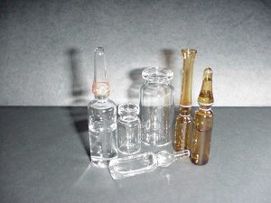 Glass: Leak Test Holes Vials