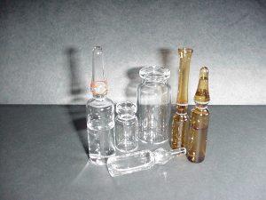 Glass: Leak Test Holes Vials