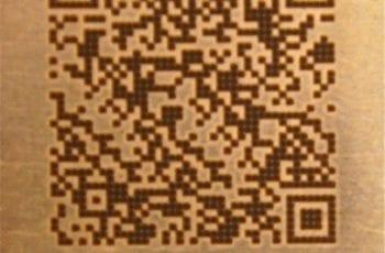 Laser marking of QR Code