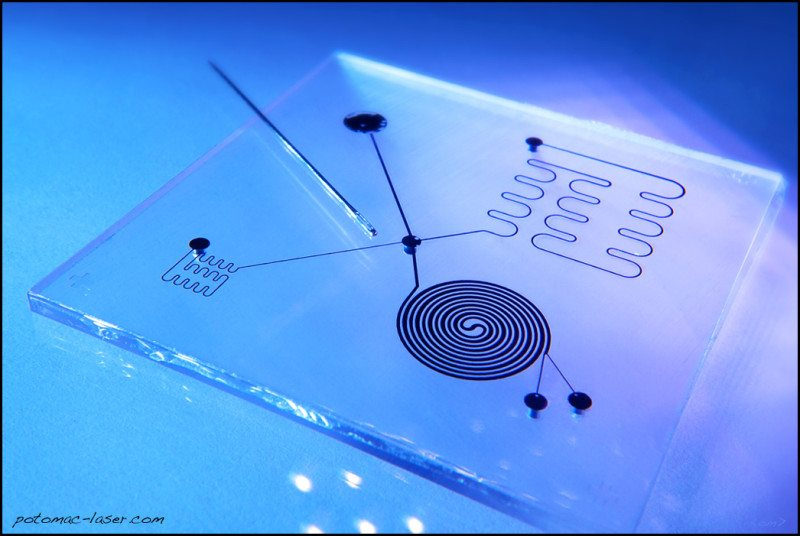 Rapid fabrication of microfluidic devices.