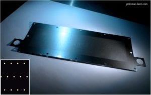 30 micron holes in metal sheet.
