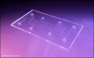 Rapid prototyping of microfluidic parts.