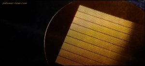Rectangles 16.7 microns by 110 microns in diameter in Kapton stencil.