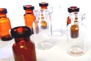 Molded glass vials for pharmaceutical