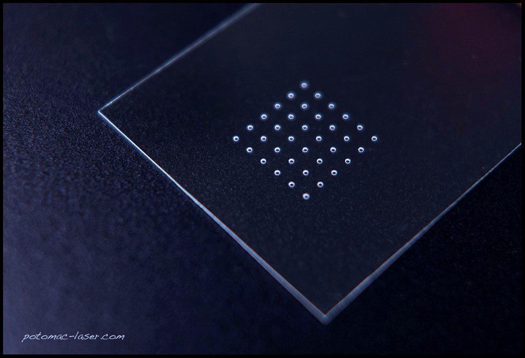 Small Hole Drilling Glass Coverslips Potomac Photonics